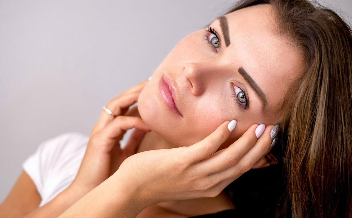 vacker hud med collagen